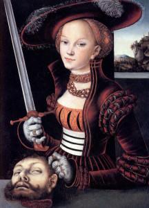 Judith_mit_dem_Haupt_des_Holofernes Lucas Cranach the Elder 1530