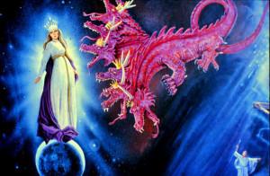 vrouw en de rode draak
